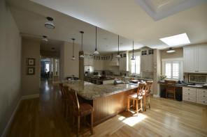 Interior kitchen in custom home